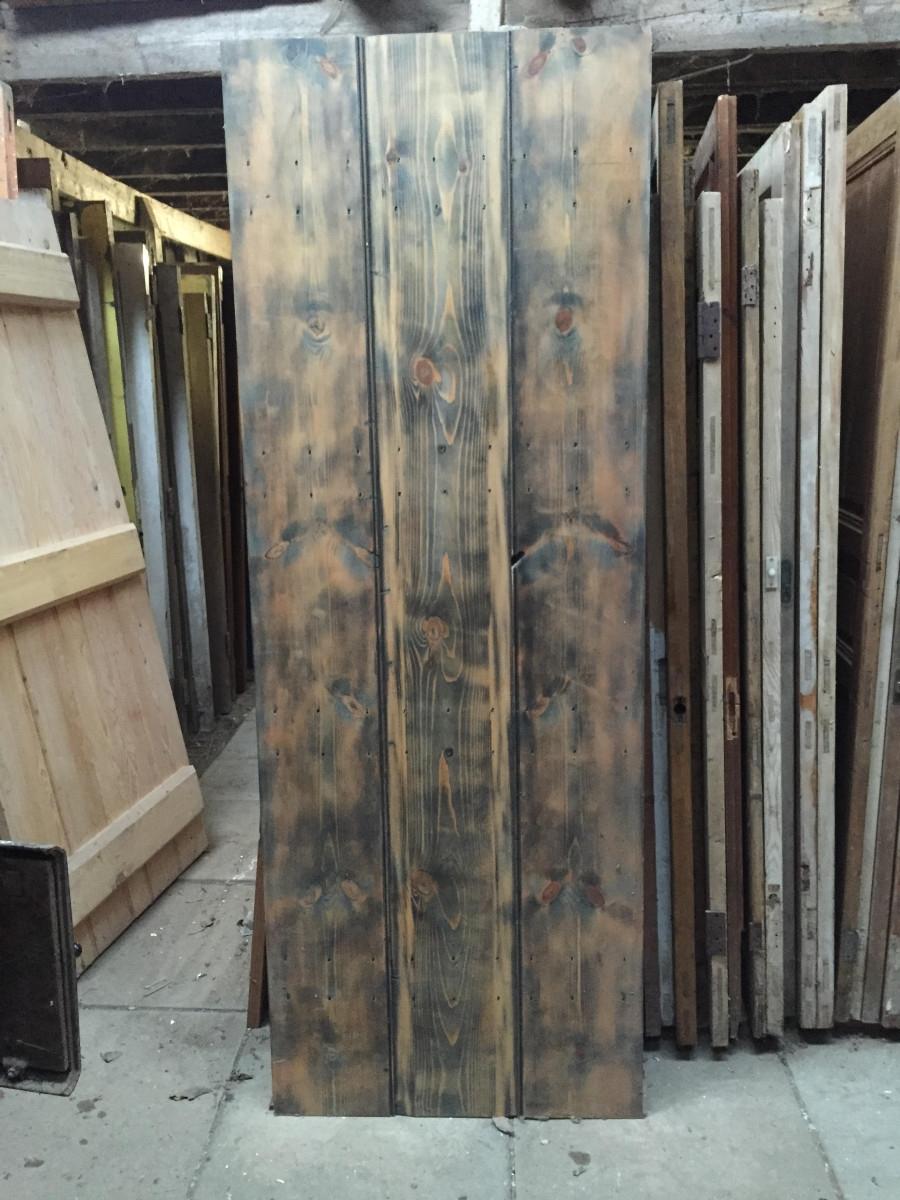 Narrow Stripped Pine Door