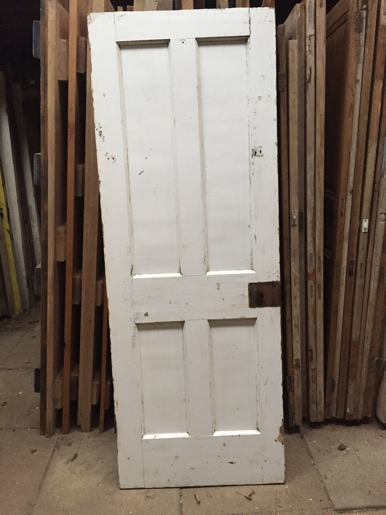 4 panel white wood door
