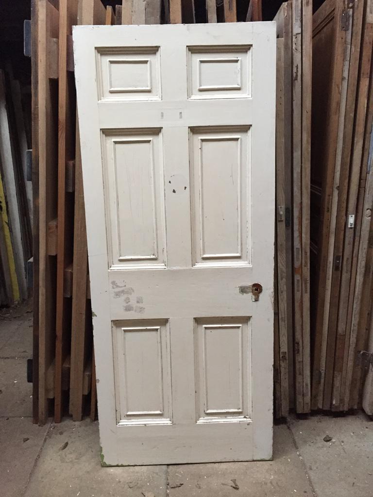 white wood door pine