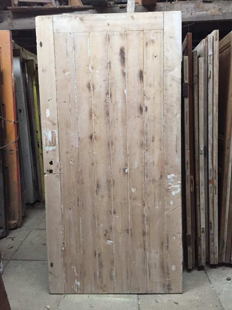 External Stripped Pine Door