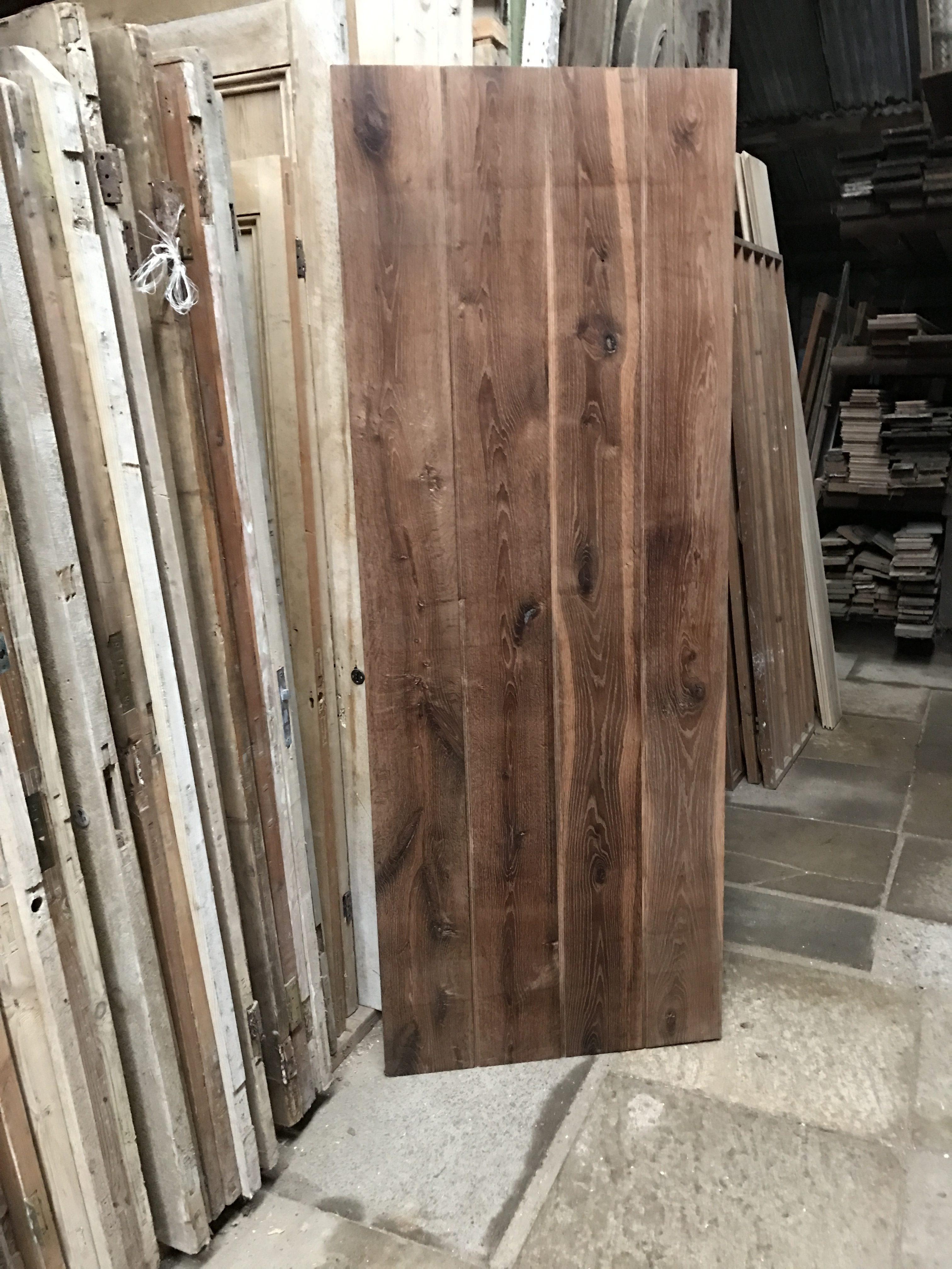 Handmade amonia treated oak ledge/plank door.